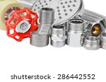 plumbing fitting  tap and... | Shutterstock . vector #286442552