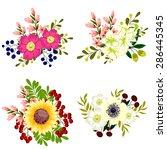 flower set | Shutterstock .eps vector #286445345