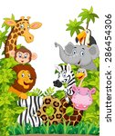 cartoon collection happy animal ... | Shutterstock .eps vector #286454306