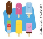 summer melted ice cream with... | Shutterstock .eps vector #286455422