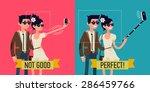 vector creative character... | Shutterstock .eps vector #286459766