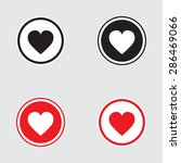 heart icon black and red... | Shutterstock . vector #286469066
