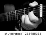 Left Hand Of Musician Playing ...