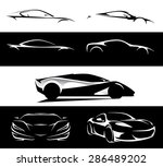 concept super car silhouette... | Shutterstock .eps vector #286489202