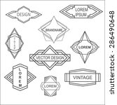 set of abstract hipster labels... | Shutterstock .eps vector #286490648