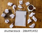 looking for ideas  writing work.... | Shutterstock . vector #286491452