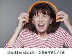 mature woman suffering from... | Shutterstock . vector #286491776