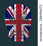 tattoo skull united kingdom...   Shutterstock .eps vector #286496672