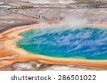 thermal pool in yellowstone... | Shutterstock . vector #286501022