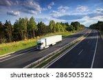 truck transportation on the road   Shutterstock . vector #286505522