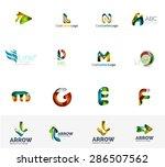 set of new universal company... | Shutterstock .eps vector #286507562
