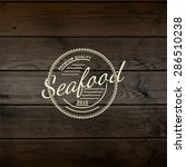seafood badges logos and labels ... | Shutterstock .eps vector #286510238