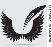illustration of angel icon | Shutterstock . vector #286512596