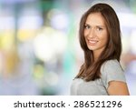 smiling  fashion model  human... | Shutterstock . vector #286521296