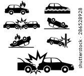 car insurance icons set.vector | Shutterstock .eps vector #286528928