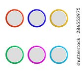 set of colorful 3d buttons.... | Shutterstock .eps vector #286553975