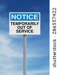 a notice sign indicating... | Shutterstock . vector #286557422