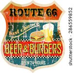 retro route sixty six diner... | Shutterstock .eps vector #286559852