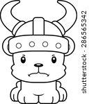 a cartoon viking bear looking... | Shutterstock .eps vector #286565342
