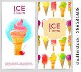 watercolor vector backgrounds... | Shutterstock .eps vector #286581608