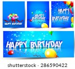 birthday background with... | Shutterstock .eps vector #286590422