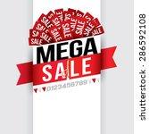 mega sale. vector illustration | Shutterstock .eps vector #286592108