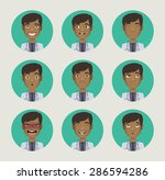 emotions doctor faces vector... | Shutterstock .eps vector #286594286