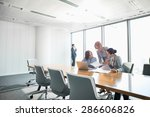 businesswomen looking at... | Shutterstock . vector #286606826