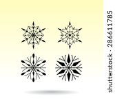 snowflake sign icons  vector... | Shutterstock .eps vector #286611785