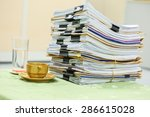 big stack of business report... | Shutterstock . vector #286615028