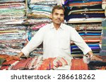 Small Shop Owner Indian Man...