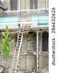 Step Ladder Resting Against...