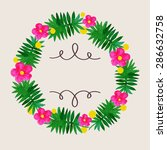 watercolor flowers wreath.   Shutterstock .eps vector #286632758