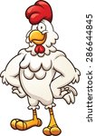 cartoon chicken. vector clip... | Shutterstock .eps vector #286644845