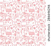 a vector seamless pattern of... | Shutterstock .eps vector #286646246
