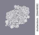 lace flowers decoration element | Shutterstock .eps vector #286648082