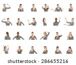 collage of different facial... | Shutterstock . vector #286655216