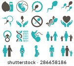 medical icon set. style ... | Shutterstock .eps vector #286658186