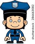 a cartoon police officer...   Shutterstock .eps vector #286663082