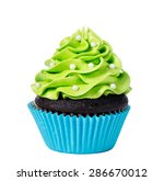 chocolate cupcake decorated... | Shutterstock . vector #286670012