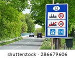 sign of speed limits at the...   Shutterstock . vector #286679606