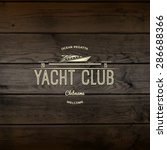 yacht club badges logos and... | Shutterstock .eps vector #286688366