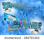 many abstract images on the... | Shutterstock . vector #286701362