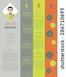 new modern resume curriculum... | Shutterstock .eps vector #286710695