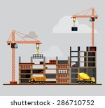 construction. process  tools ... | Shutterstock .eps vector #286710752