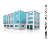office building with entrance... | Shutterstock .eps vector #286720946