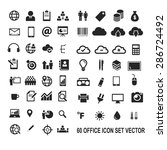 60 office icon pack vector | Shutterstock .eps vector #286724492