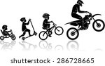 extreme sports starts at a... | Shutterstock .eps vector #286728665