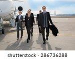 executive business team leaving ... | Shutterstock . vector #286736288
