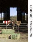 A Saddle Sitting On A Fence...